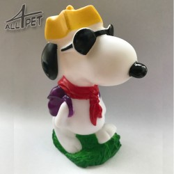 SNOOPY Dog Toys Squeaky Chew Rope Strong Rubber