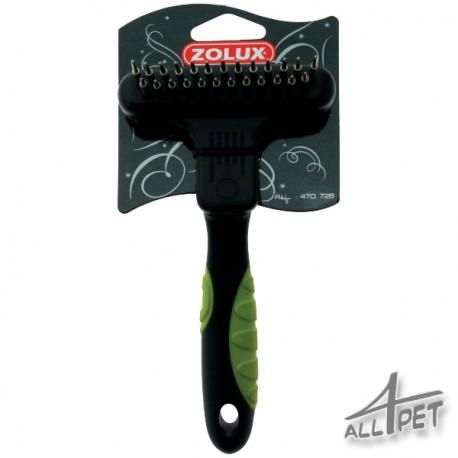 ZOLUX Undercoat Rake Double - teeth are telescopic (retractable) and rotation