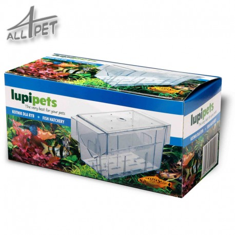 LUPIPETS 2in1 Aquarium Floating Fish Breeder Tank Fry Trap Hatchery